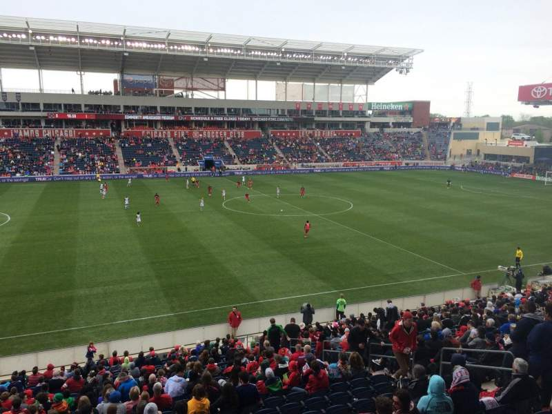 Seating view for Toyota Park Section 109 Row 25 Seat 7