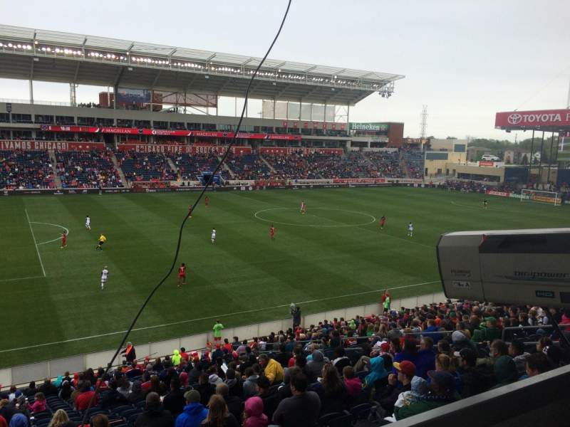 Seating view for Toyota Park Section 110 Row 25 Seat 7