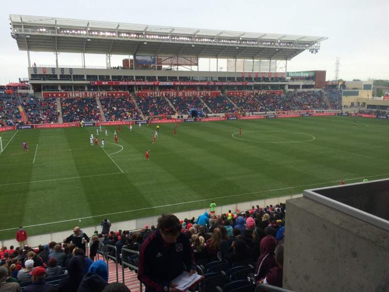 Seating view for Toyota Park Section 111 Row 27 Seat 1