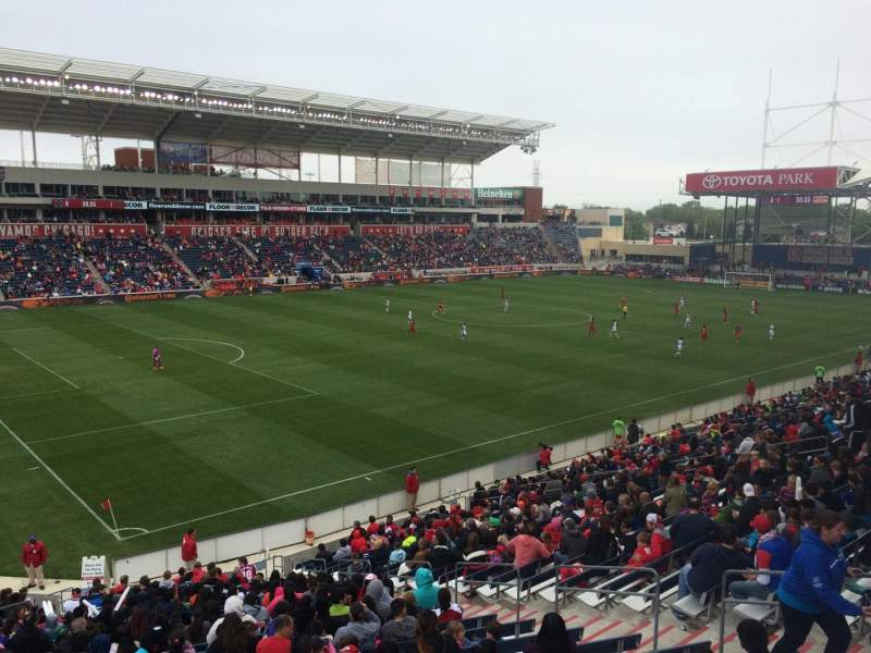 Seating view for Toyota Park Section 112 Row 25 Seat 7