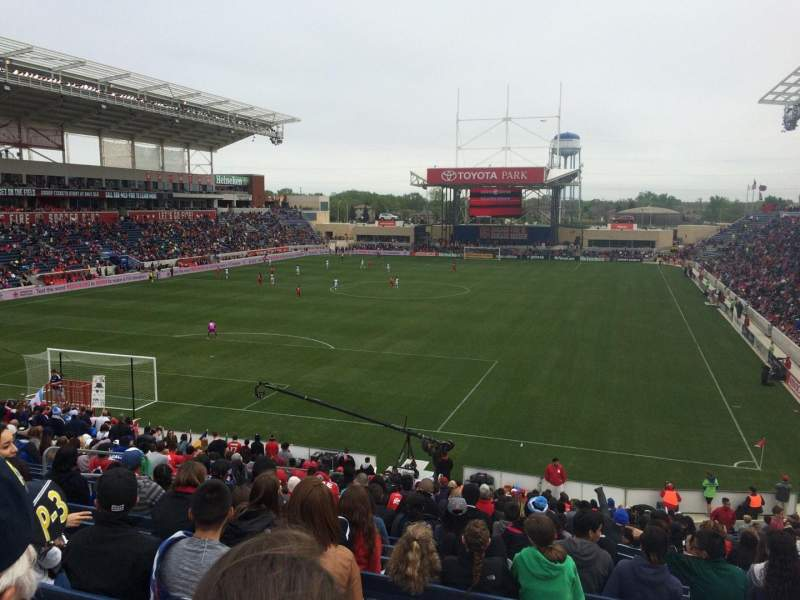 Seating view for Toyota Park Section 115 Row 27 Seat 9