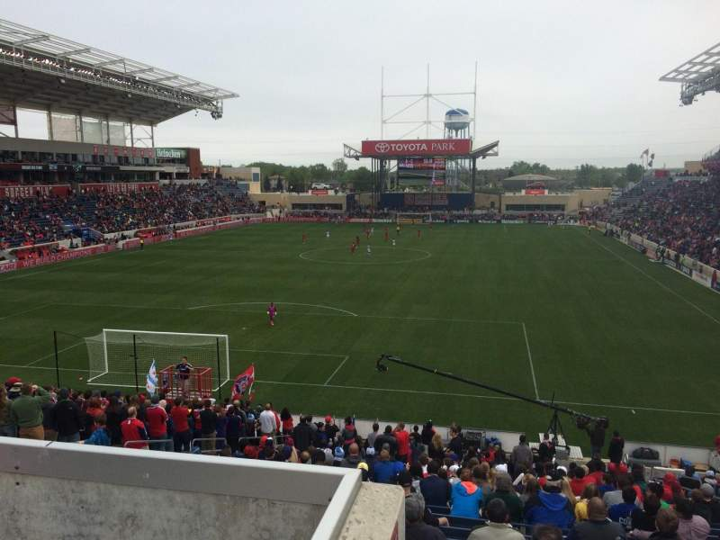 Seating view for Toyota Park Section 116 Row 27 Seat 8