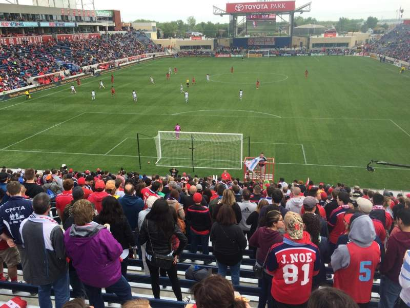 Seating view for Toyota Park Section 117 Row 25 Seat 9