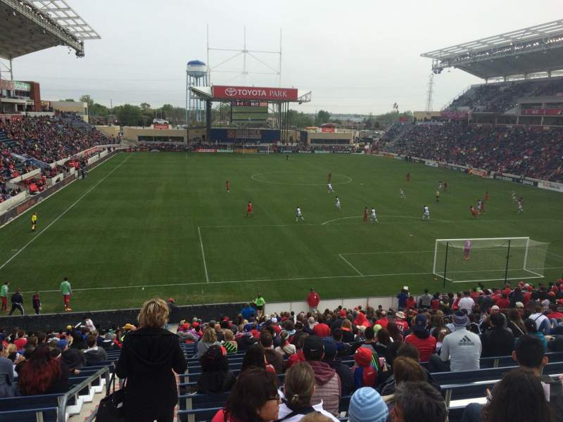 Seating view for Toyota Park Section 119 Row 27 Seat 8