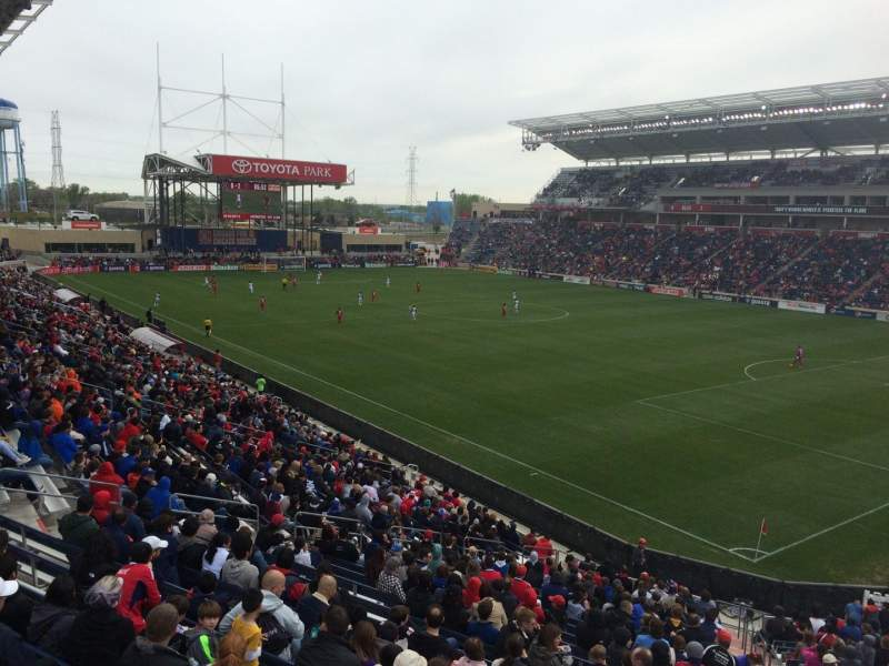 Seating view for Toyota Park Section 123 Row 25 Seat 10