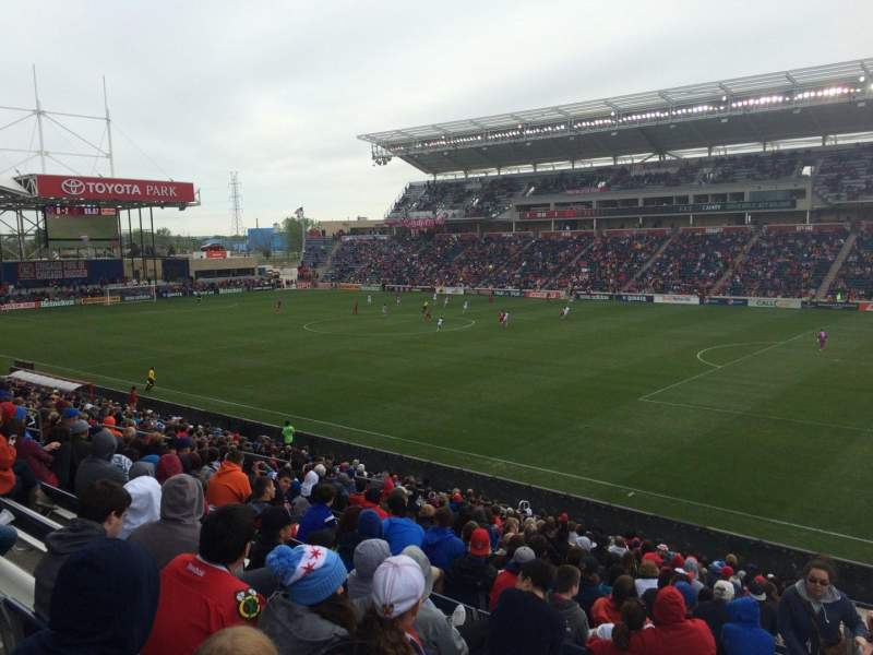 Seating view for Toyota Park Section 124 Row 24 Seat 1