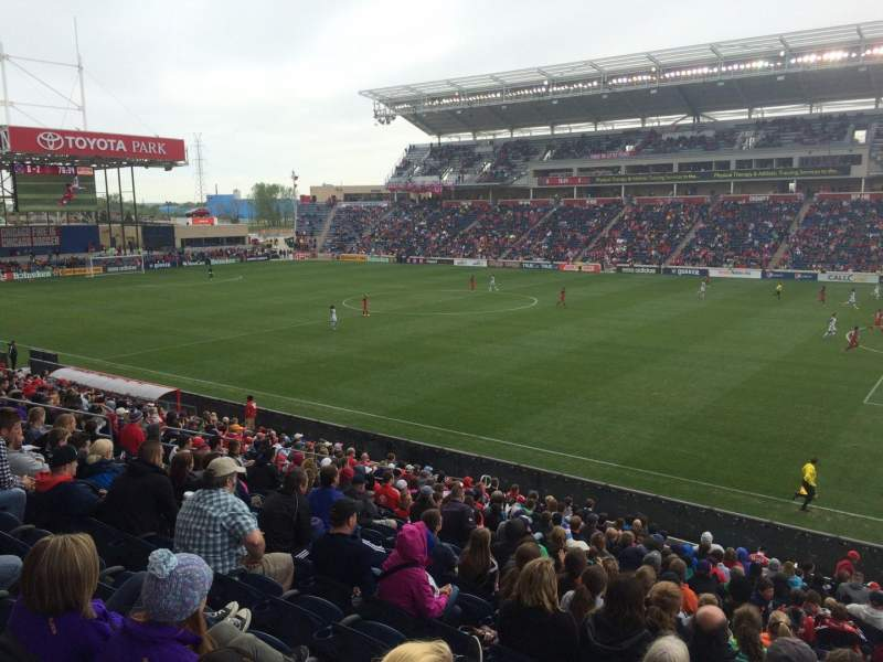 Seating view for Toyota Park Section 125 Row 20 Seat 1
