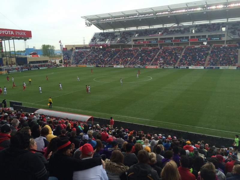 Seating view for Toyota Park Section 126 Row 20 Seat 1