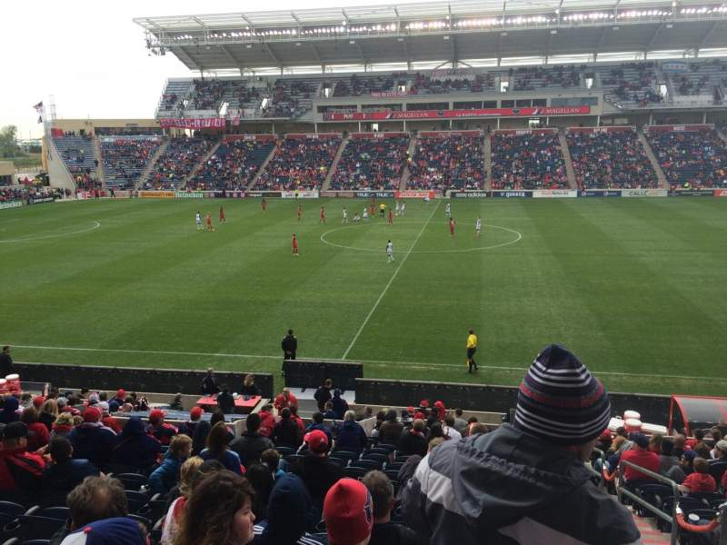 Seating view for Toyota Park Section 128 Row 20 Seat 1