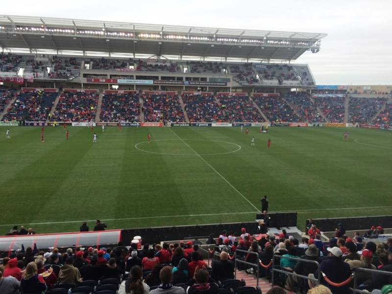 Seating view for Toyota Park Section 129 Row 20 Seat 12