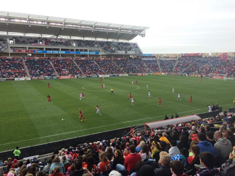Seating view for Toyota Park Section 130 Row 20 Seat 22