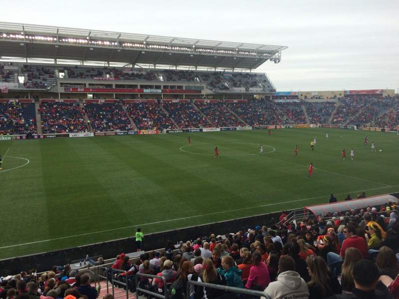 Seating view for Toyota Park Section 131 Row 20 Seat 1