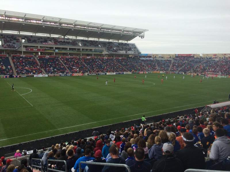 Seating view for Toyota Park Section 132 Row 20 Seat 1