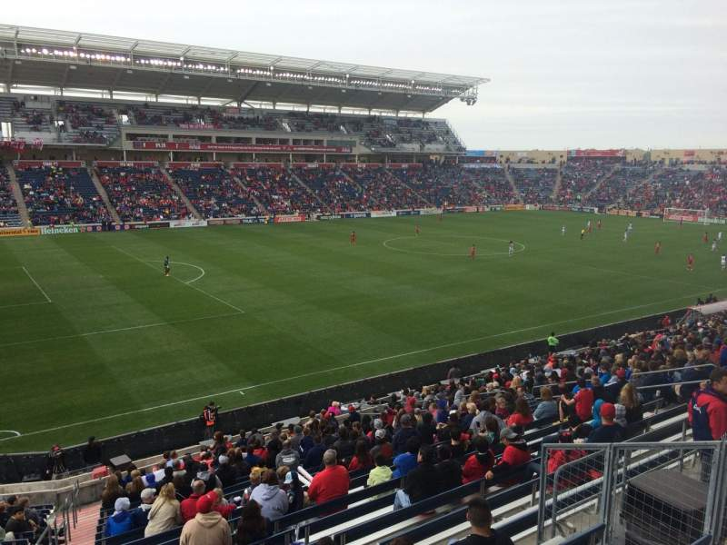 Seating view for Toyota Park Section 132 Row 25 Seat 7