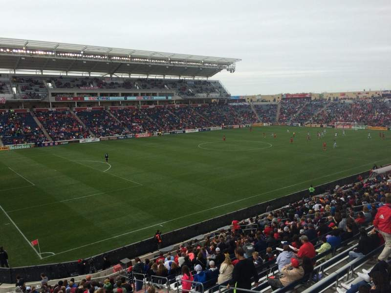 Seating view for Toyota Park Section 133 Row 25 Seat 6