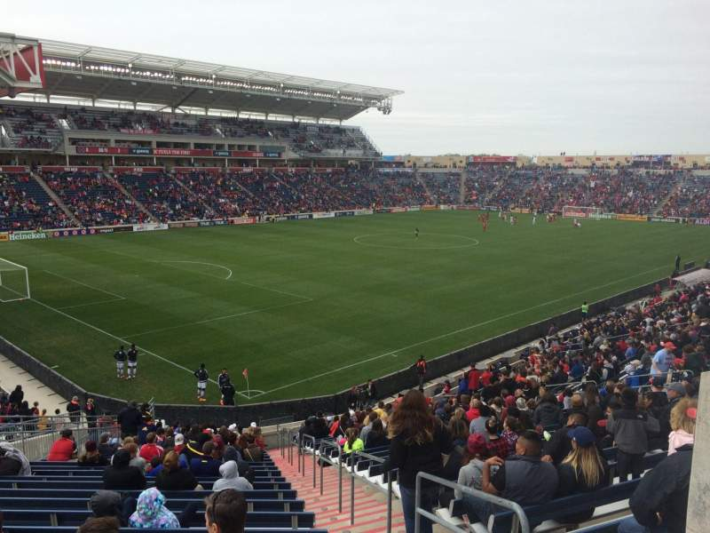 Seating view for Toyota Park Section 134 Row 27 Seat 1