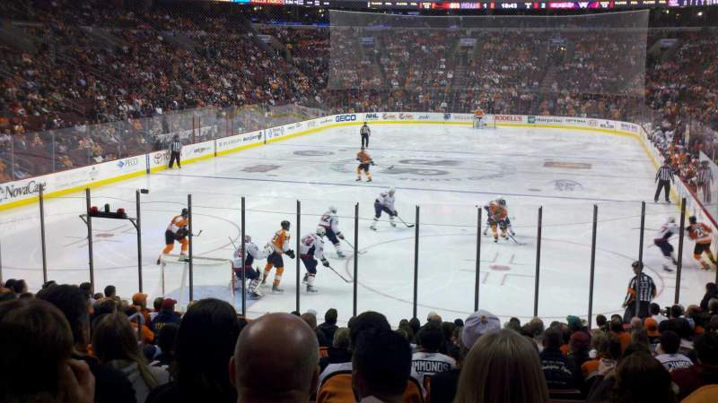 Seating view for Wells Fargo Center Section 120 Row 17 Seat 7