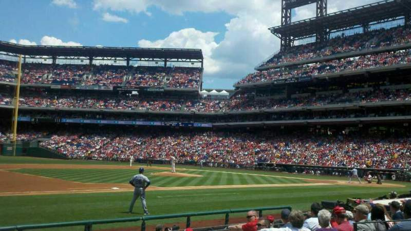 Seating view for Citizens Bank Park Section 133 Row 10 Seat 4