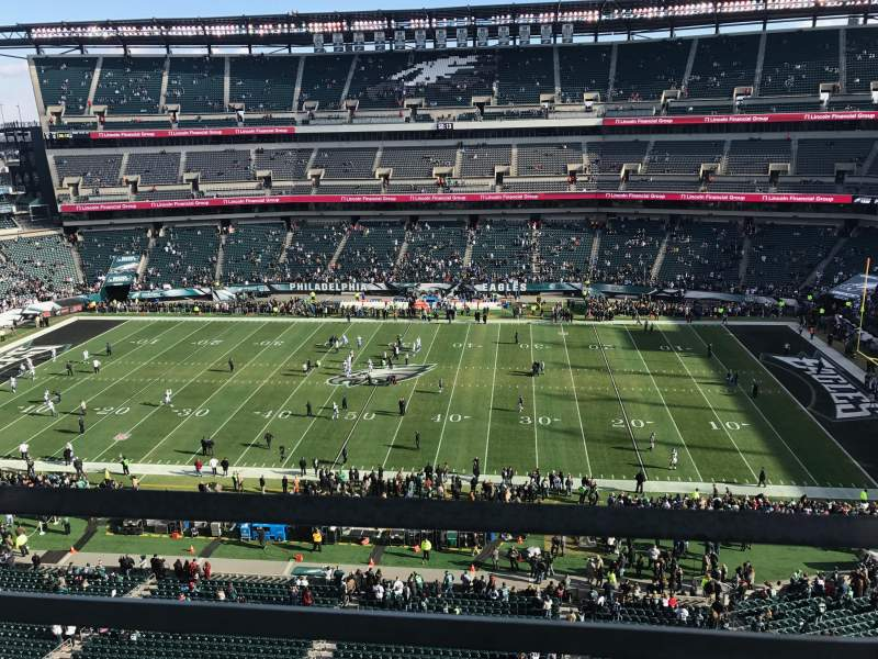 Seating view for Lincoln Financial Field Section 202 Row 1 Seat 9