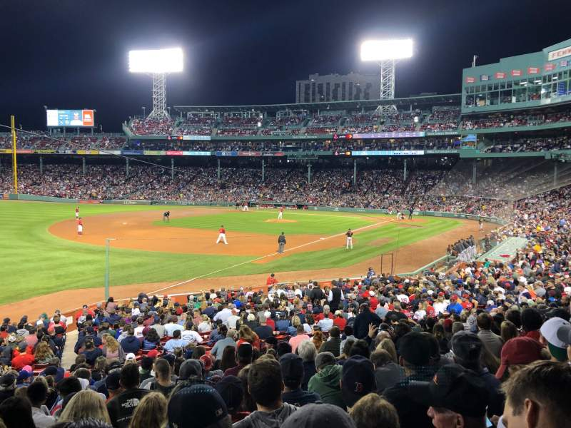 Seating view for Fenway Park Section Grandstand 31 Row 1 Seat 5