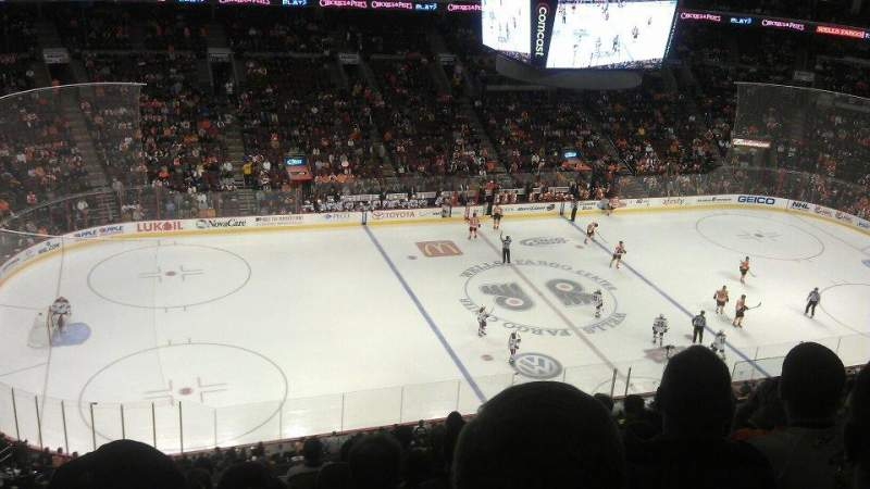 Seating view for Wells Fargo Center Section 211 Row 9