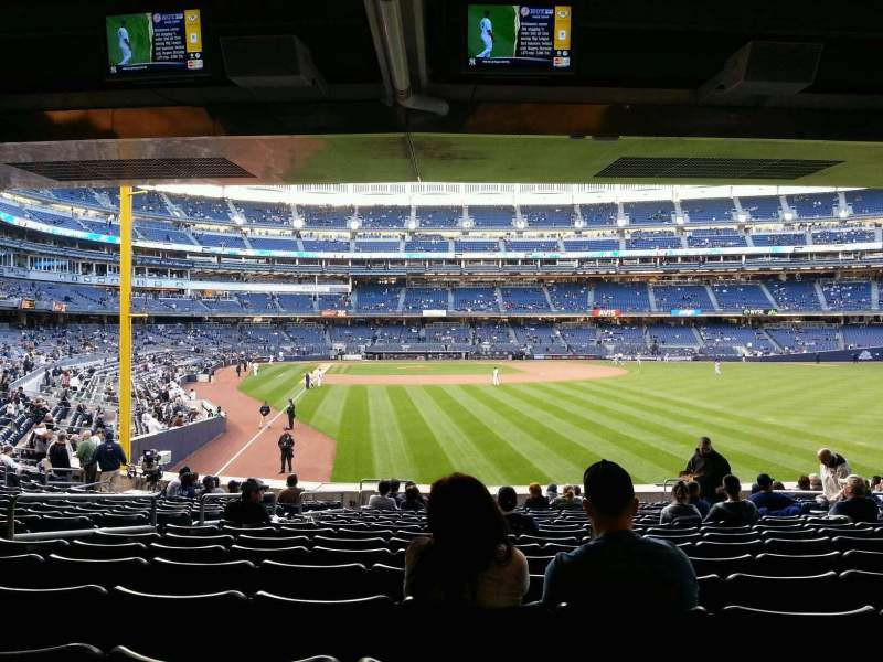 Seating view for Yankee Stadium Section 106 Row 26 Seat 14