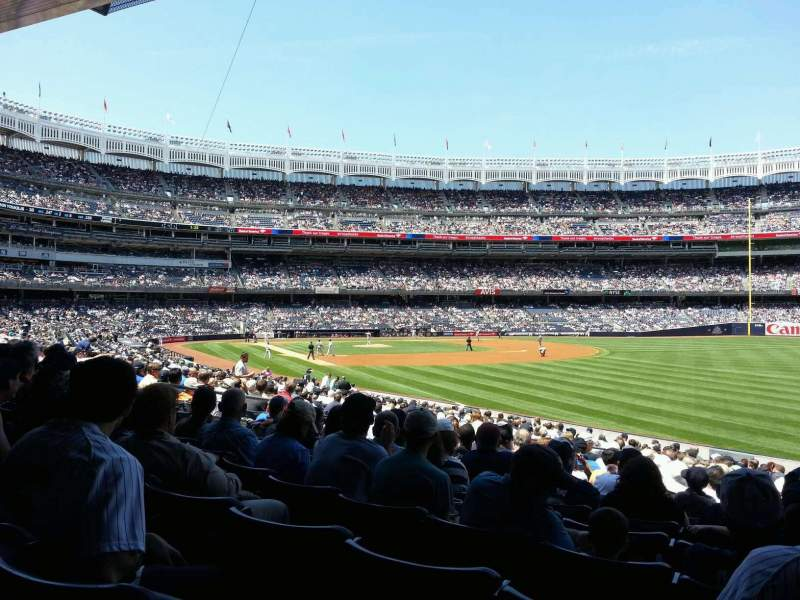 Seating view for Yankee Stadium Section 109 Row 24 Seat 7