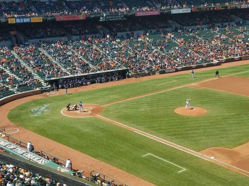 Seating view for Oriole Park at Camden Yards Section 316 Row 1 Seat 1