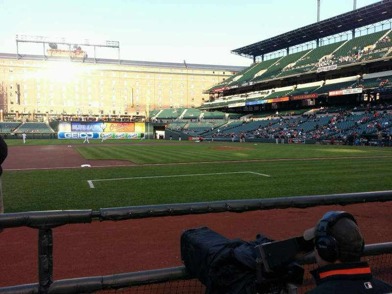Seating view for Oriole Park at Camden Yards Section 54 Row 1 Seat 8