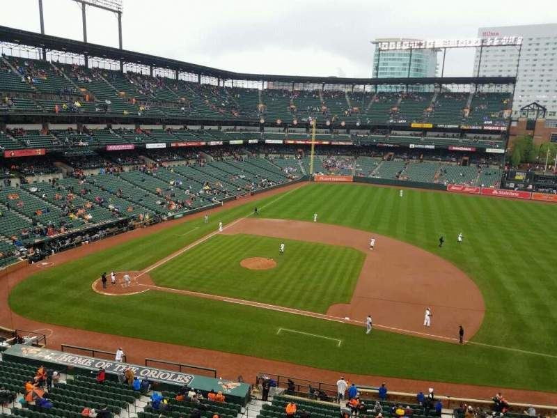 Seating view for Oriole Park at Camden Yards Section 320 Row 1 Seat 11