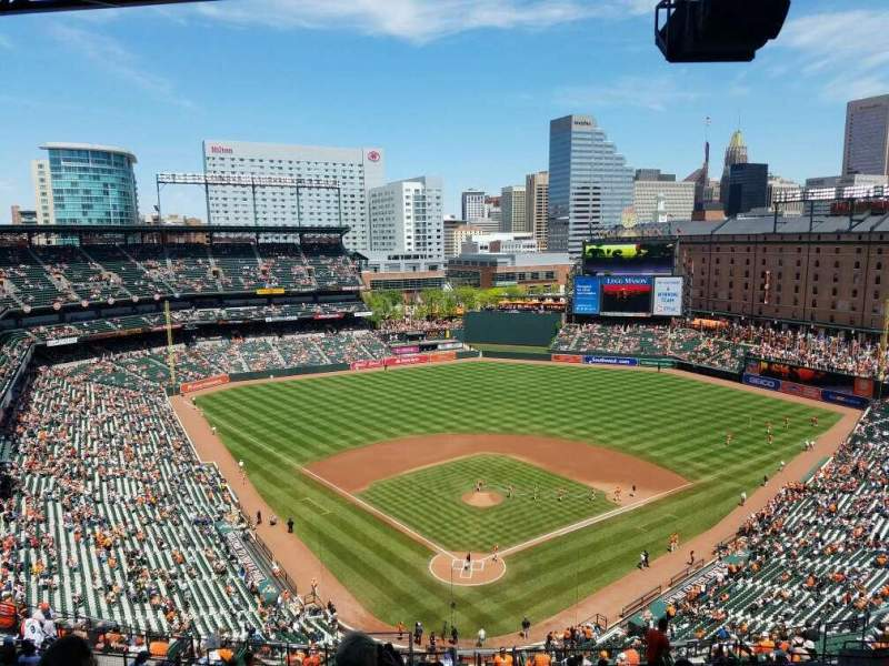 Seating view for Oriole Park at Camden Yards Section 334 Row 25 Seat 15