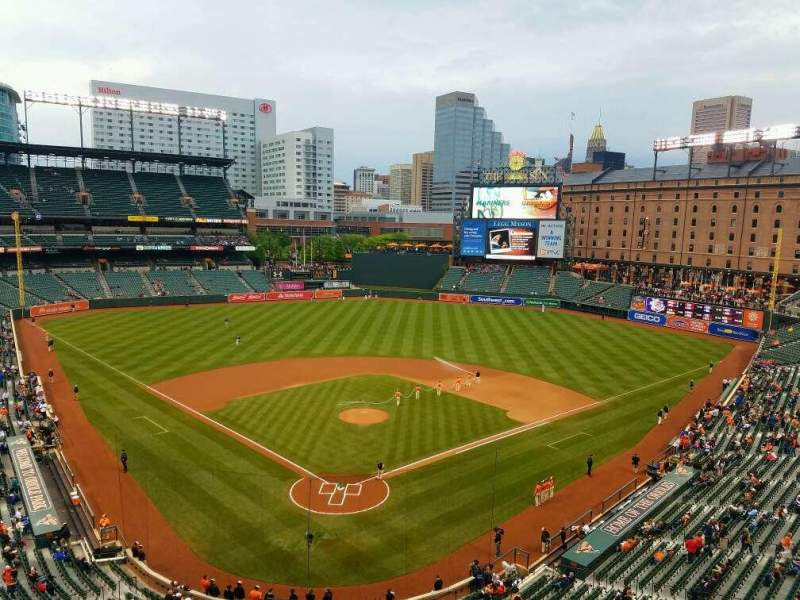 Seating view for Oriole Park at Camden Yards Section 334 Row 1 Seat 10
