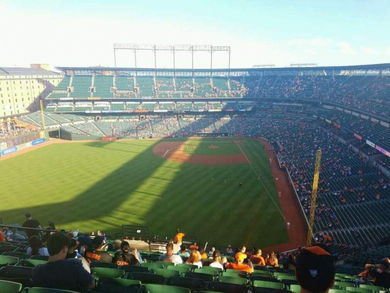 Seating view for Oriole Park at Camden Yards Section 382 Row 25 Seat 11
