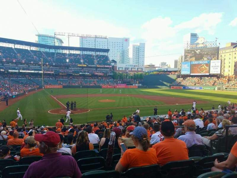 Seating view for Oriole Park at Camden Yards Section 30 Row 26 Seat 6
