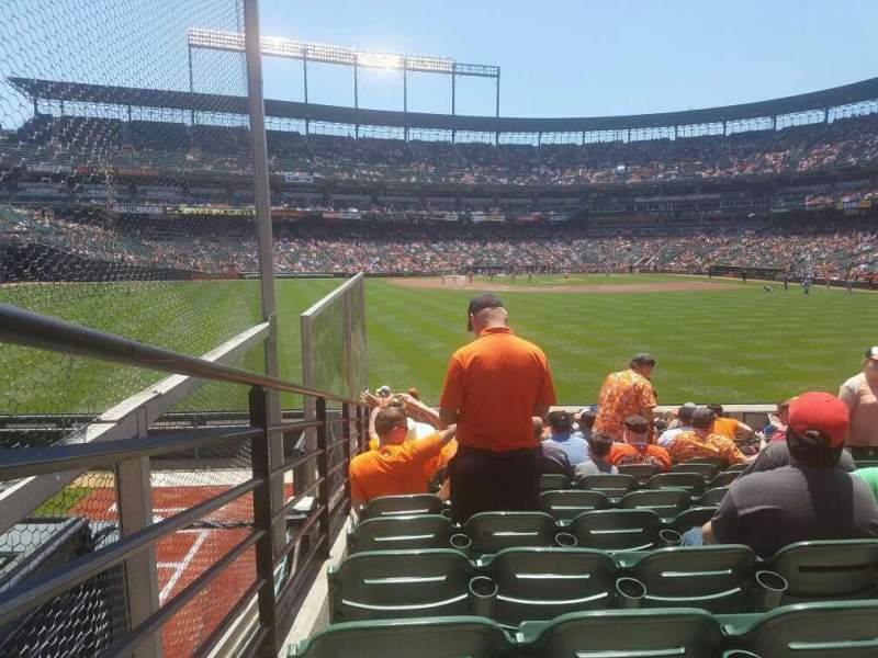 Seating view for Oriole Park at Camden Yards Section 86 Row 16 Seat 12