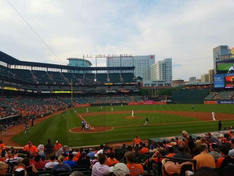 Seating view for Oriole Park at Camden Yards Section 30 Row 22 Seat 3