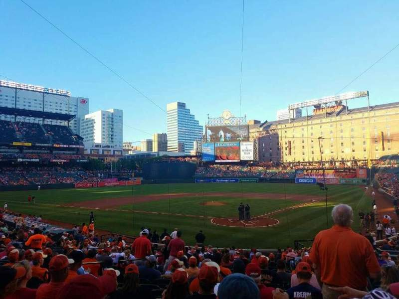 Seating view for Oriole Park at Camden Yards Section 40 Row 24 Seat 5
