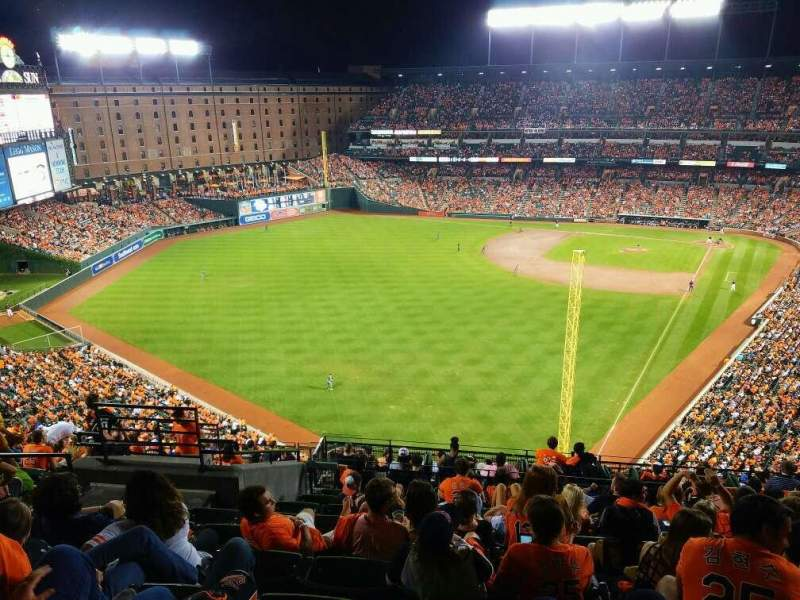 Oriole Park At Camden Yards Section 378 Row 19 Seat 17