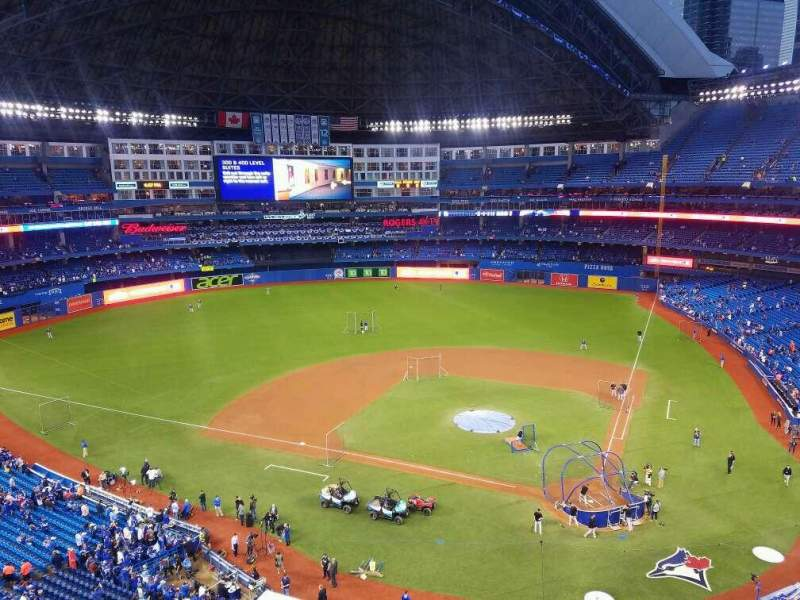 Seating view for Rogers Centre Section 526L Row 2 Seat 106