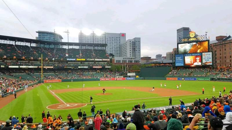 Seating view for Oriole Park at Camden Yards Section 30 Row 28 Seat 6