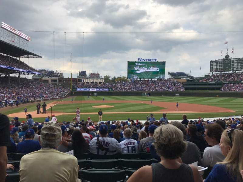 Seating view for Wrigley Field Section 122 Row 11 Seat 11