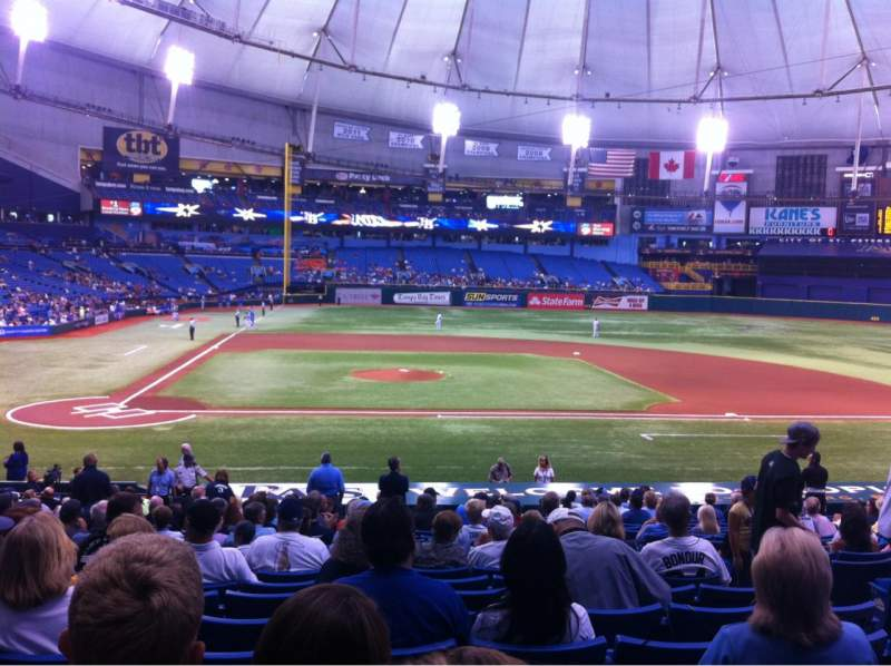 Seating view for Tropicana Field Section 112 Row EE Seat 6