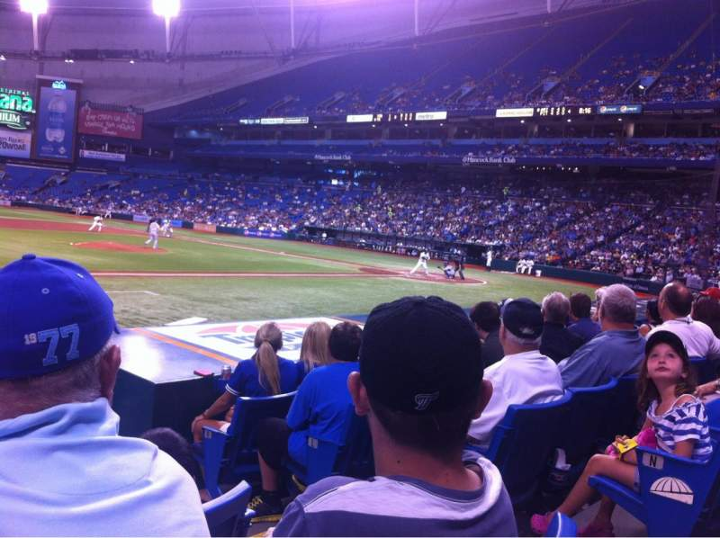 Seating view for Tropicana Field Section 119 Row P Seat 8