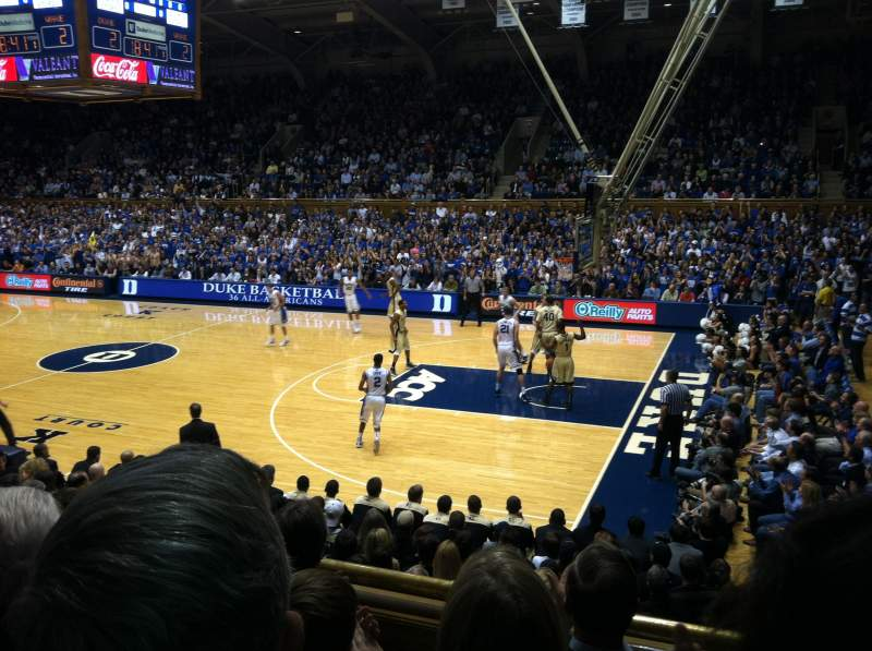 Seating view for Cameron Indoor Stadium Section 9 Row A Seat 9