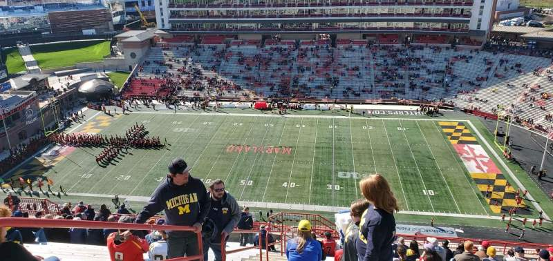 Seating view for Maryland Stadium Section 308 Row Z Seat 2