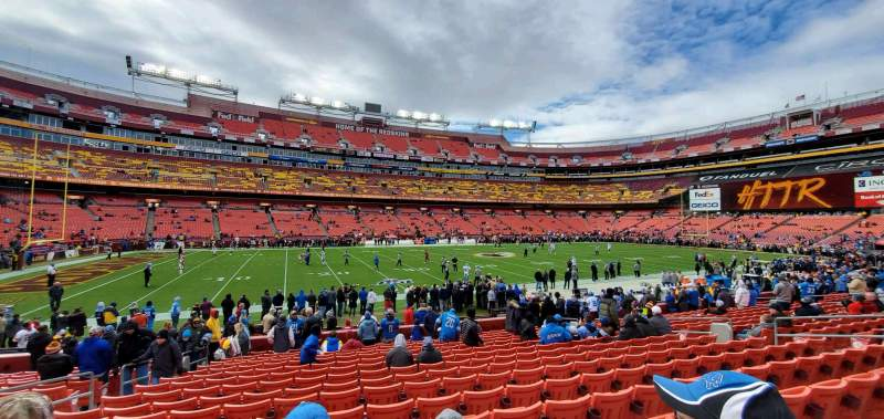 Seating view for FedEx Field Section 124 Row 15 Seat 16