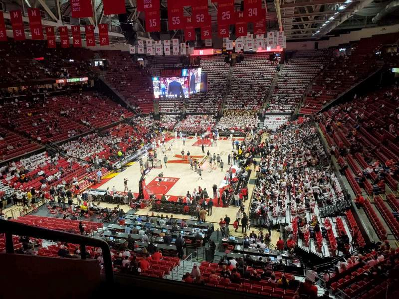 Seating view for Xfinity Center (Maryland) Section 209 Row 3 Seat 24
