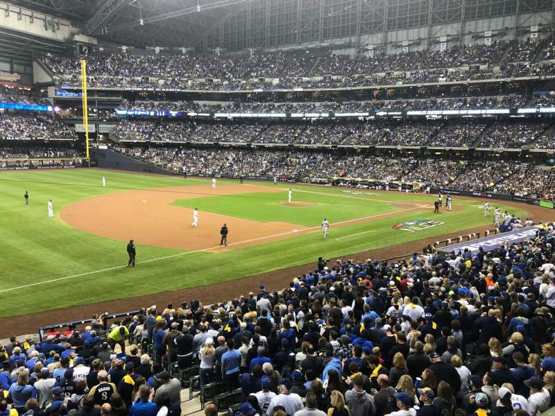 Seating view for Miller Park Section 228 Row 1 Seat 6