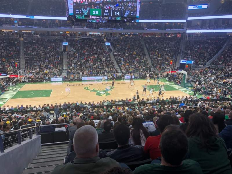 Seating view for Fiserv Forum Section 106 Row 23 Seat 24
