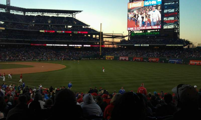 Seating view for Citizens Bank Park Section 109 Row 36 Seat 10